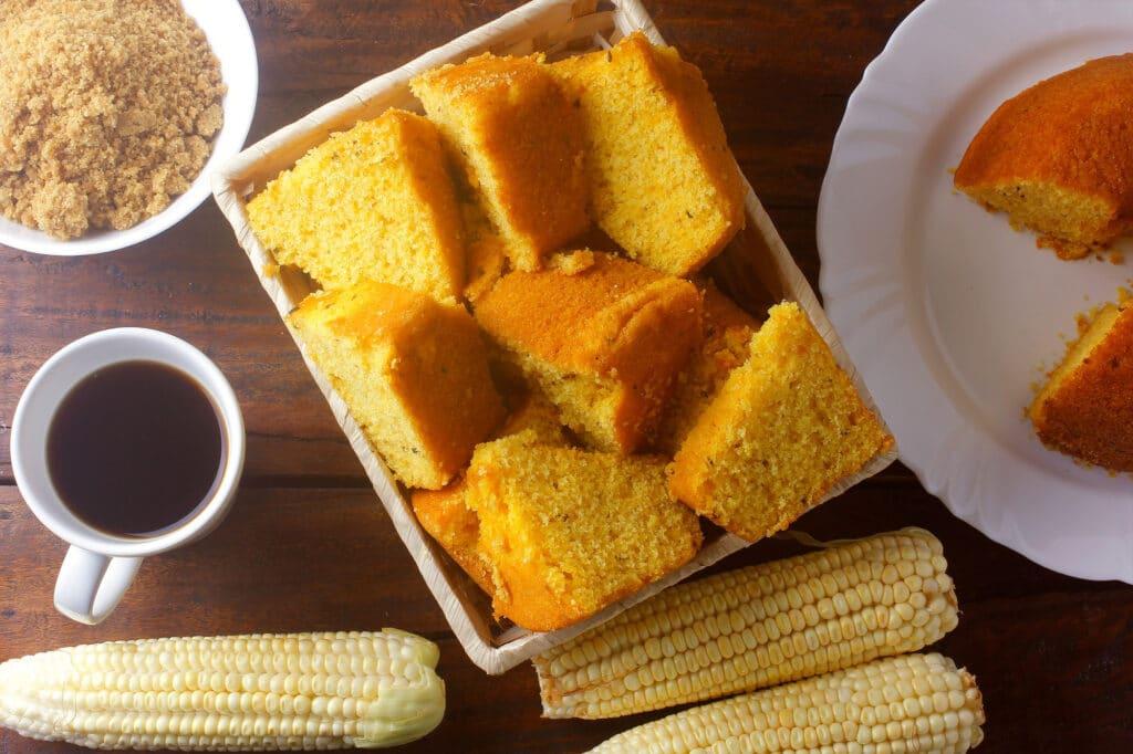 Receita de bolo de flocão de milho