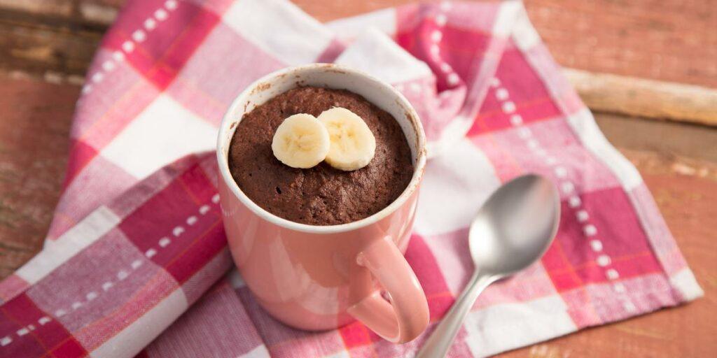 Receita de bolo de chocolate na caneca (sem açúcar)
