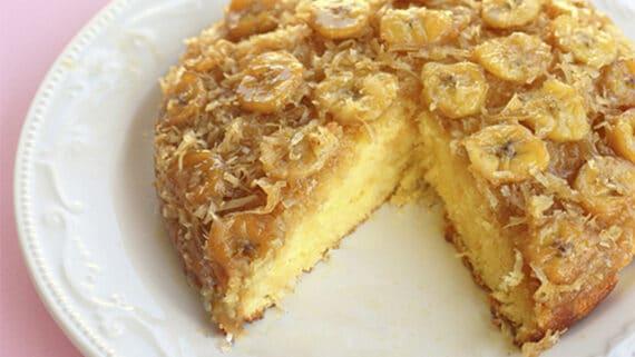 Receita de bolo de banana com coco