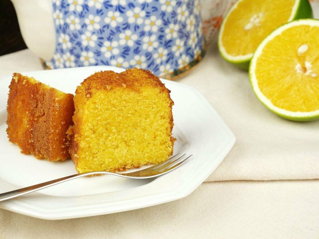 Receita de bolo de fubá com laranja
