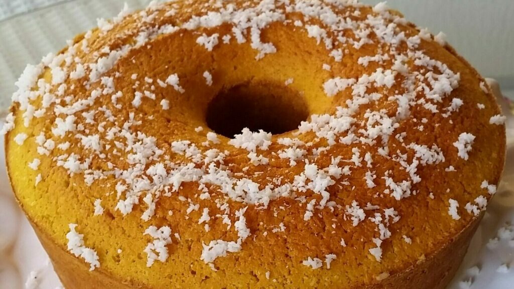 Receita de bolo de abóbora com coco