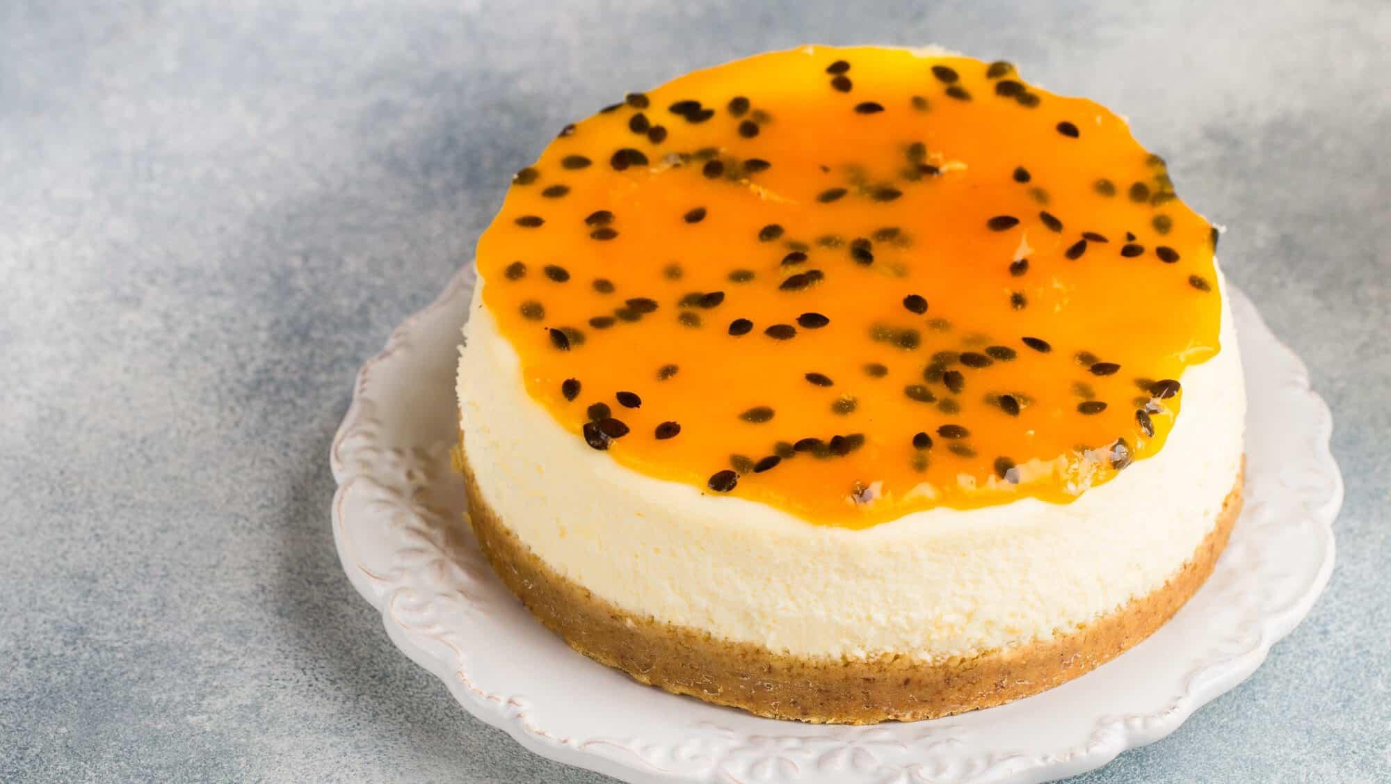 Receita de cheesecake de maracujá