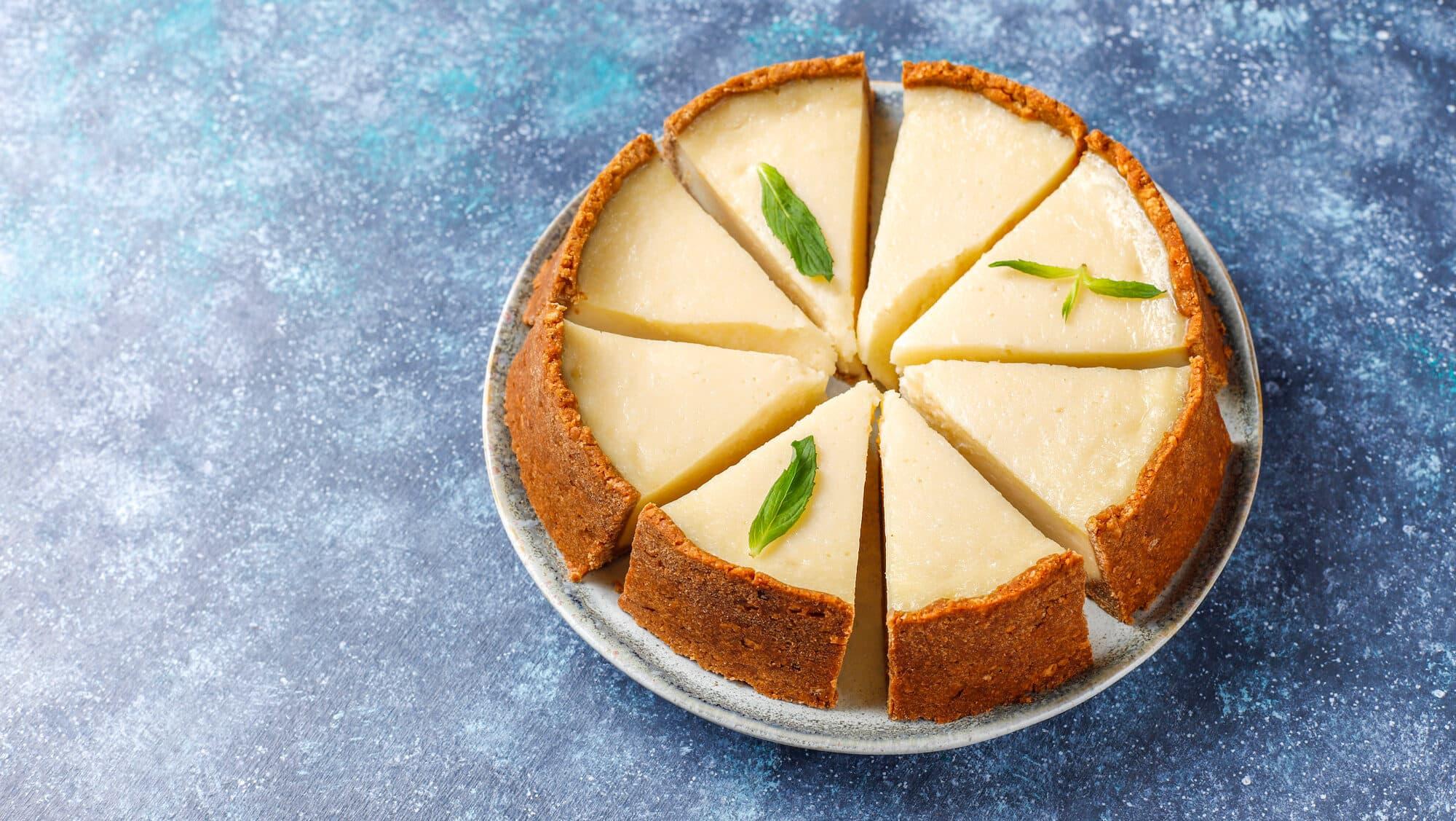 Cheesecake com cream cheese simples