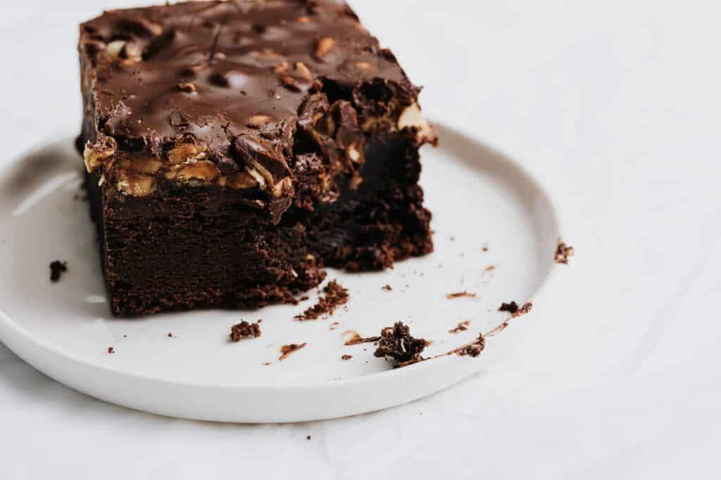 Receita de brownie de chocolate com amendoim